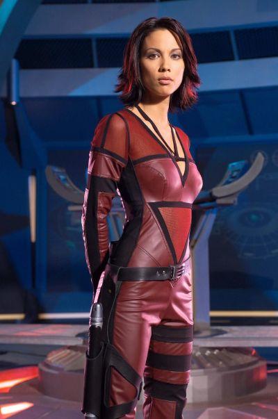 Actress Lexa Doig in the TV series Andromeda