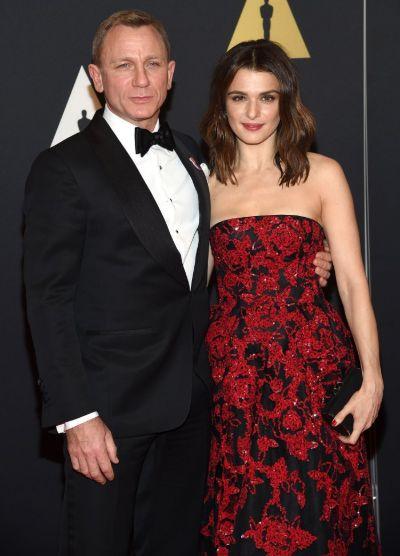 English actor Daniel Craig and his second wife Rachel Weisz